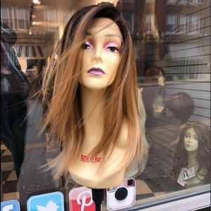 Accessories - Ombré wig blonde earth tones browns lacefront Wig